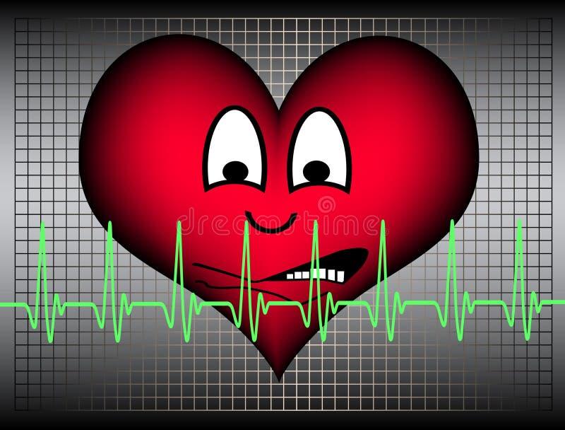 Heart looking afraid royalty free stock image