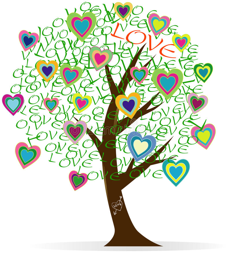 Heart and love design stock illustration