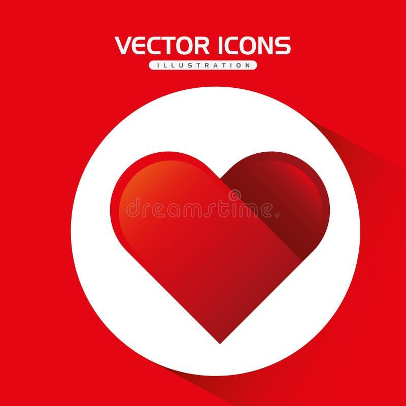 Heart love design. Illustration eps10 graphic royalty free illustration