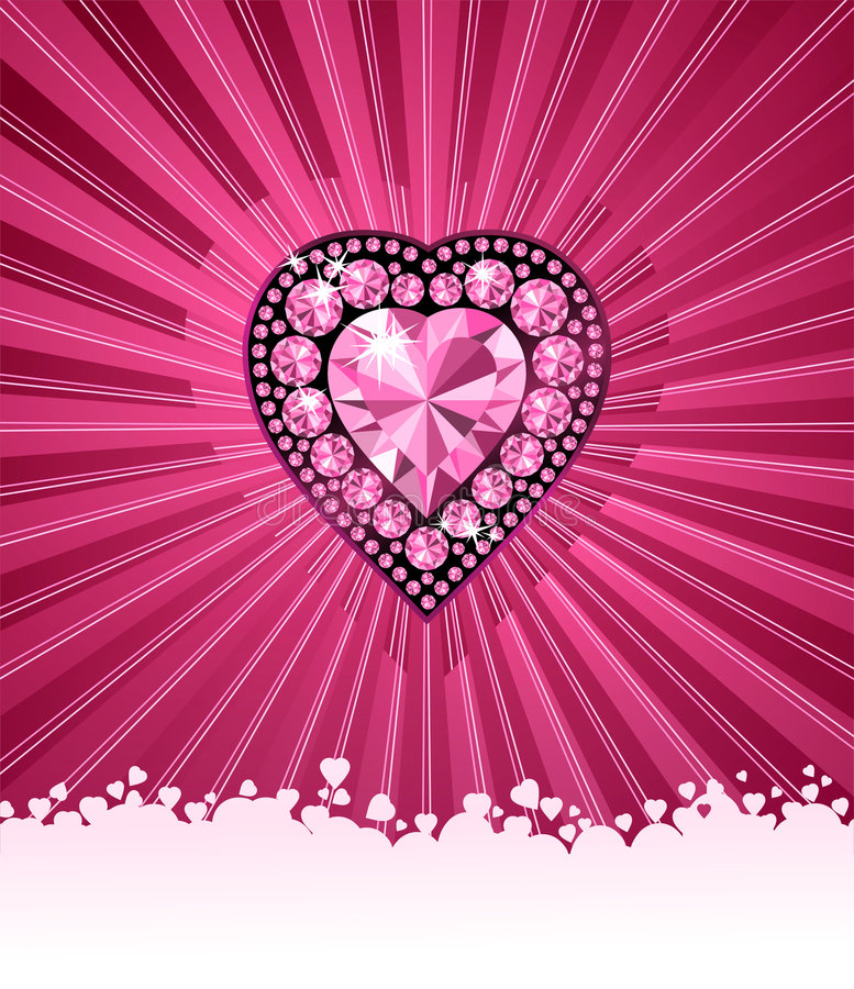HEART OF LOVE / Diamond heart / vector background royalty free illustration