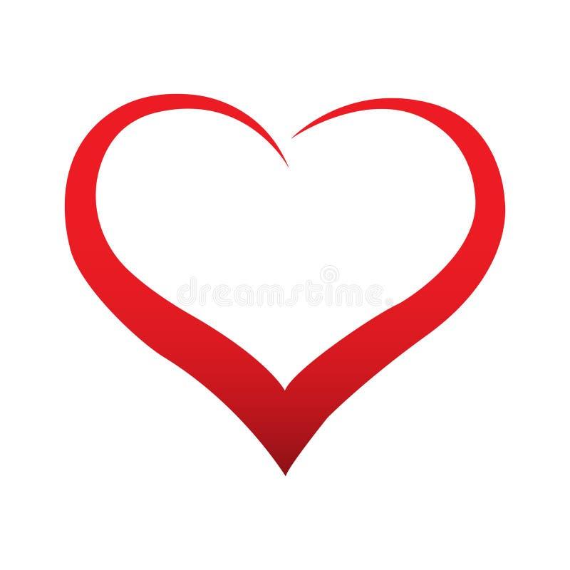 Abstract red hearts - vector illustrations. vector illustration