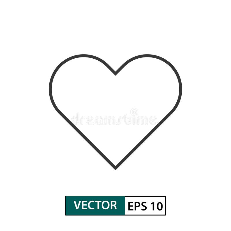 Heart / Love icon. Outline style. Vector illustration EPS 10 royalty free illustration