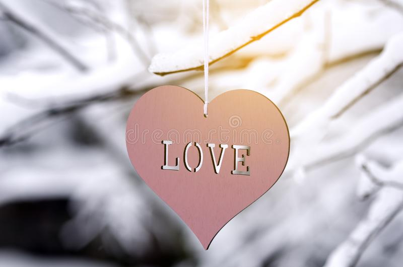 Heart with love on the open royalty free stock photos