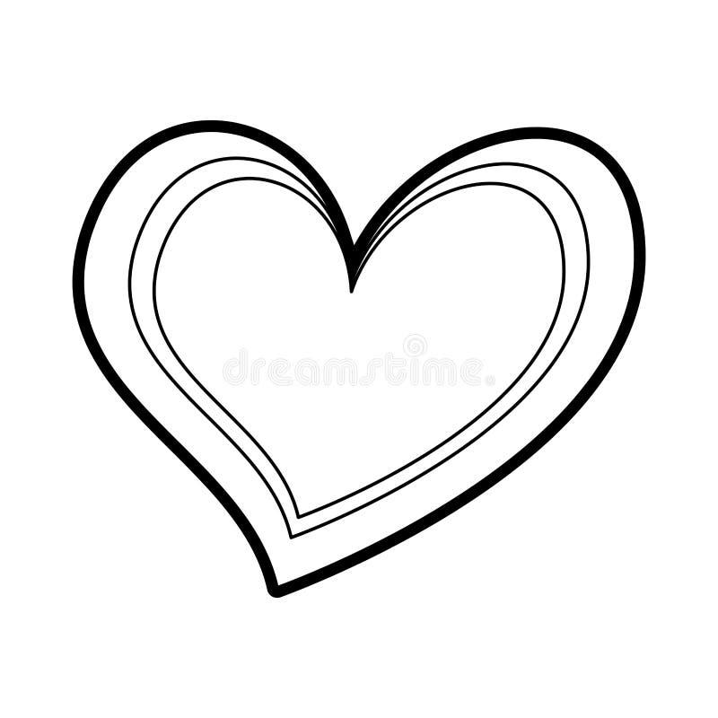 Heart love romance passion feeling symbol. Vector illustration stock illustration