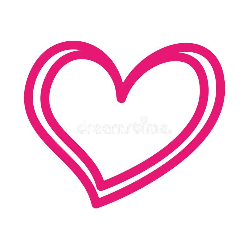 Heart love romance passion feeling symbol. Vector illustration vector illustration