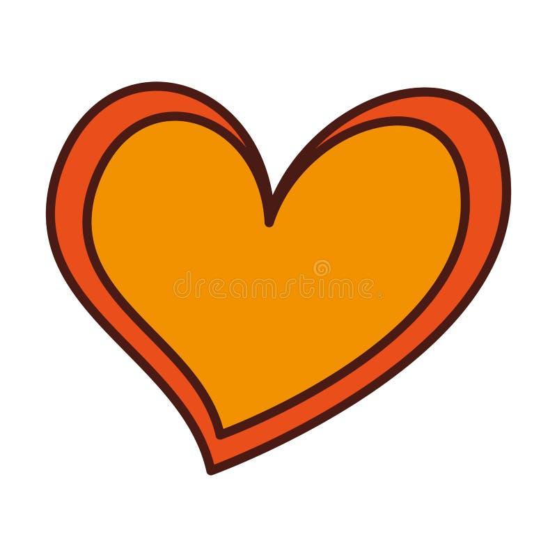 Heart love romance passion feeling symbol. Vector illustration royalty free illustration