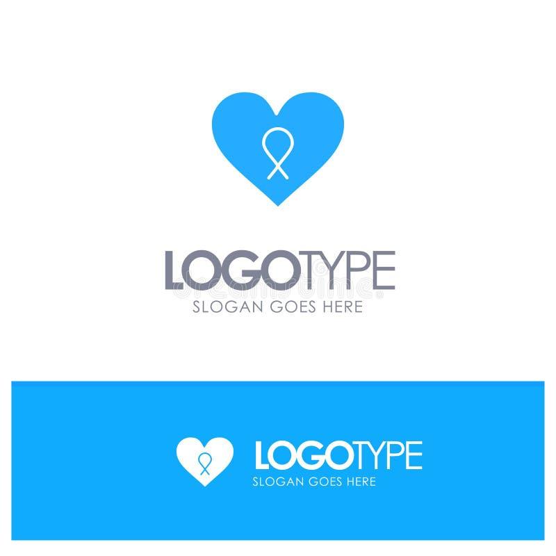 Heart, Love, Romance, Patient Blue Logo vector vector illustration