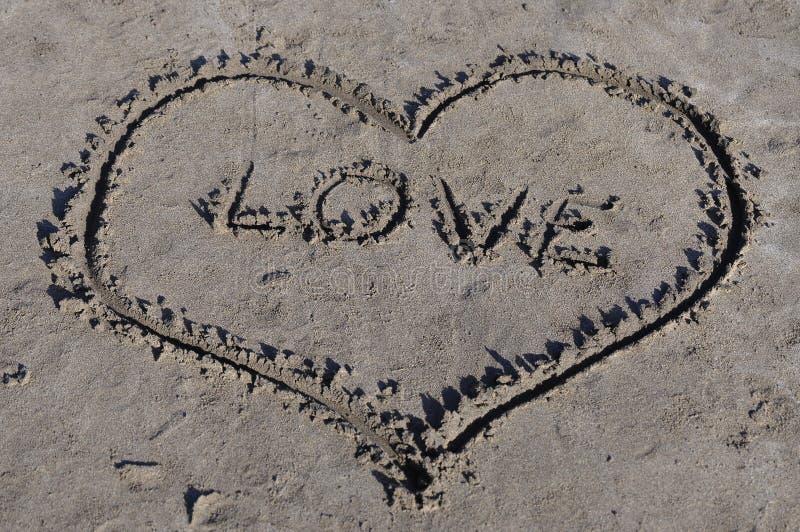 Heart Love on seaside stock photography