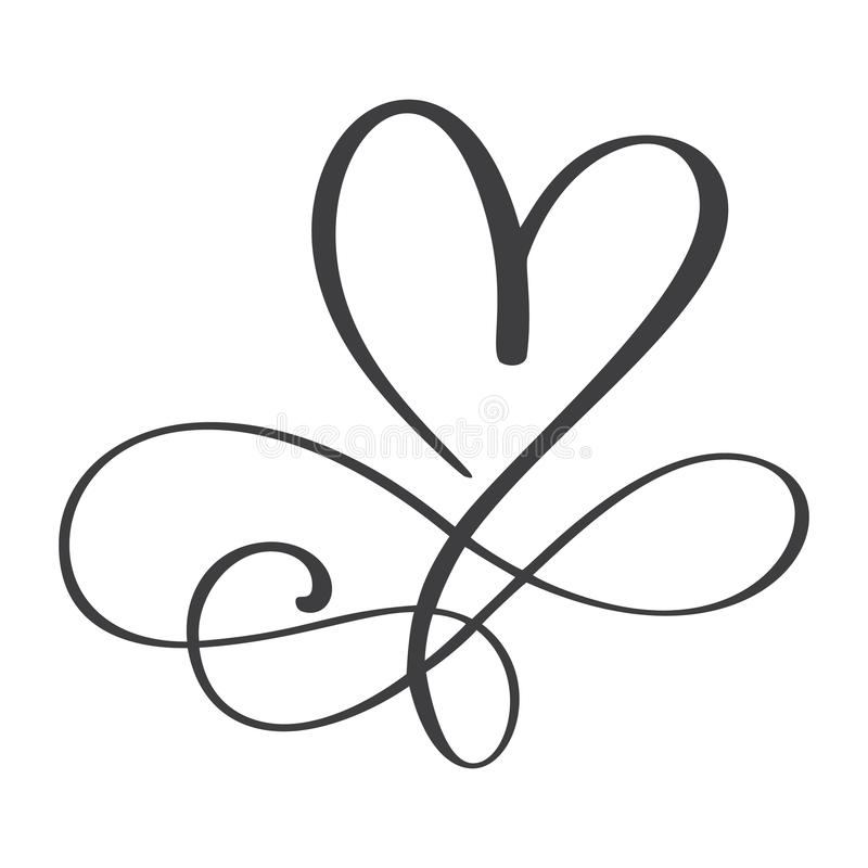 Heart love sign forever. Infinity Romantic symbol linked, join, passion and wedding. Template for t shirt, card, poster royalty free illustration