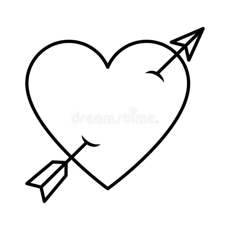 Free Heart Love With Arrow Royalty Free Stock Photo - 142709095