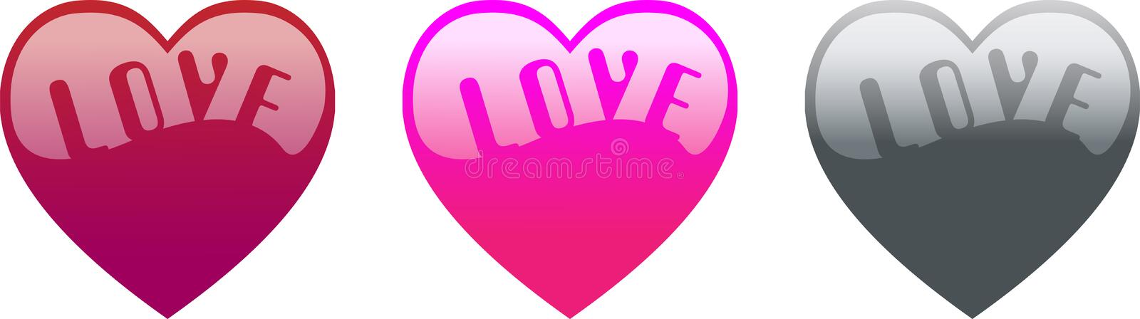 Download Heart and Love Word stock vector. Illustration of border - 9160480