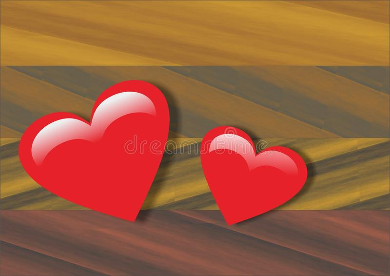 The heart for loved ones royalty free stock photo