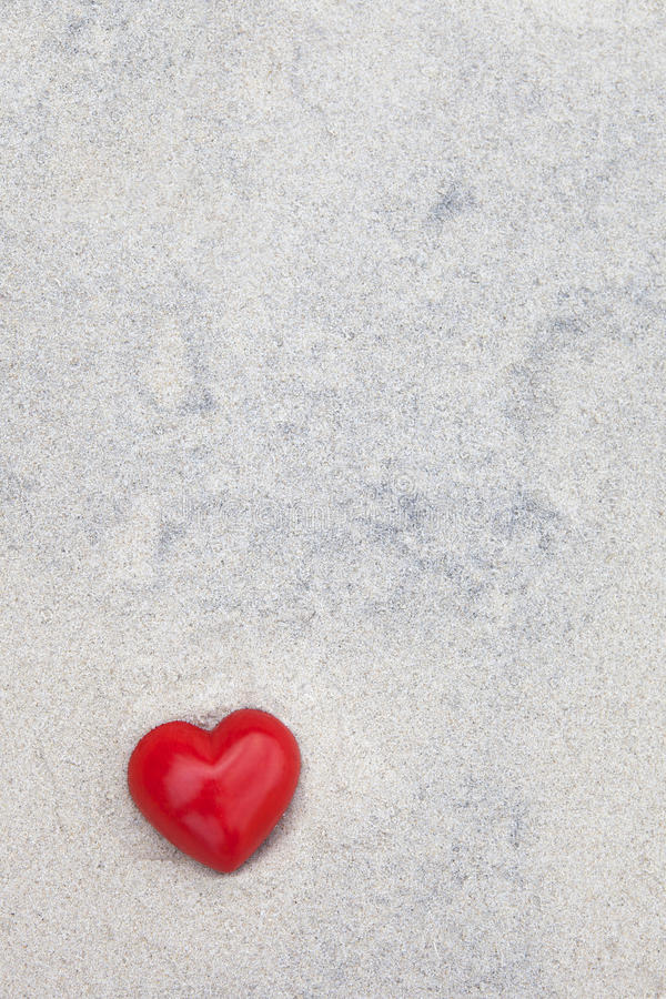 Download Heart Lying In The Sand At The Beach Stock Illustration - Image: 28760699