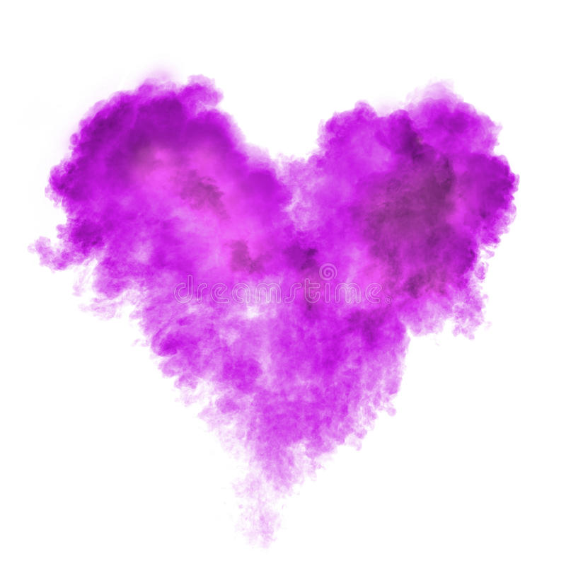 Heart made of black powder explosion isolated royalty free stock image