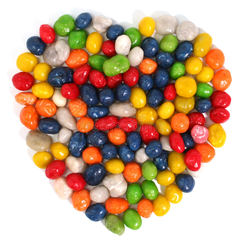 Download Heart Made Of Multi-coloured Sweets With Raisin 1 Stock Image - Image: 1798657
