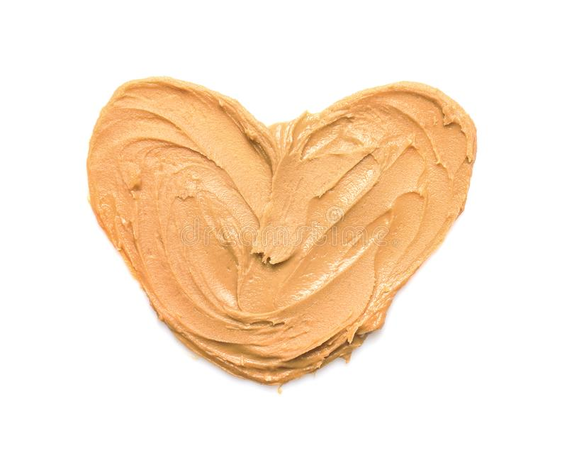 Heart made of peanut butter royalty free stock photography