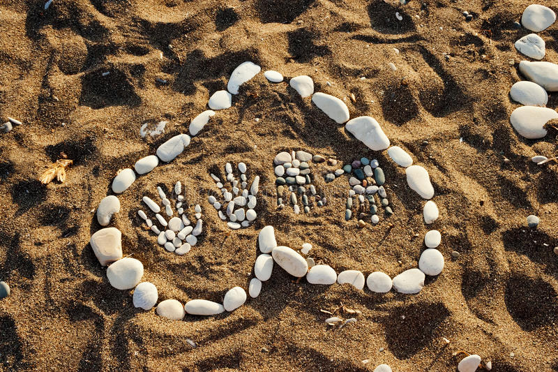 Heart Made With Pebbles Royalty Free Stock Photo