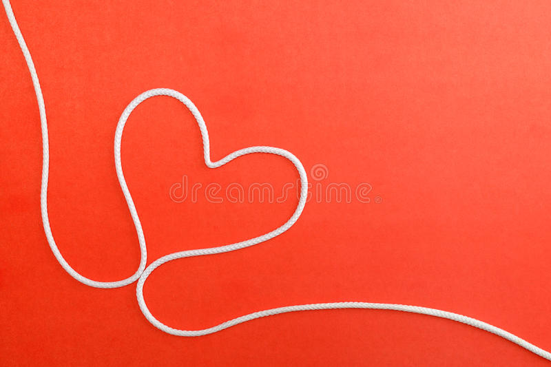 Heart made from rope stock images