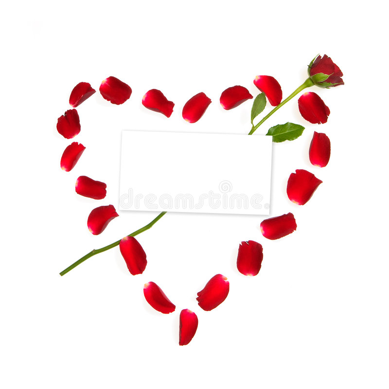 Heart Made Of Rose Petals Royalty Free Stock Photography
