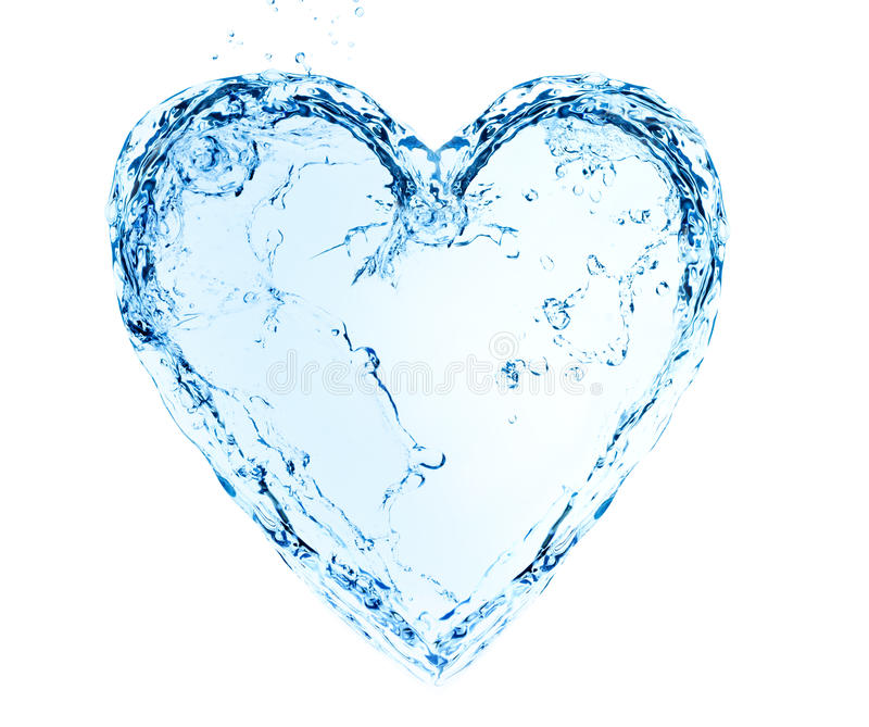 Heart made of water royalty free stock images