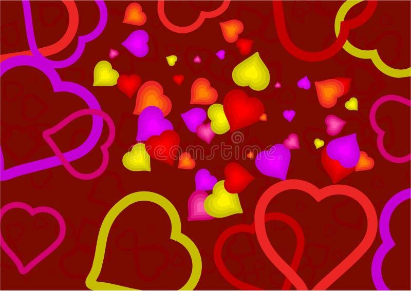 Heart mania royalty free stock image