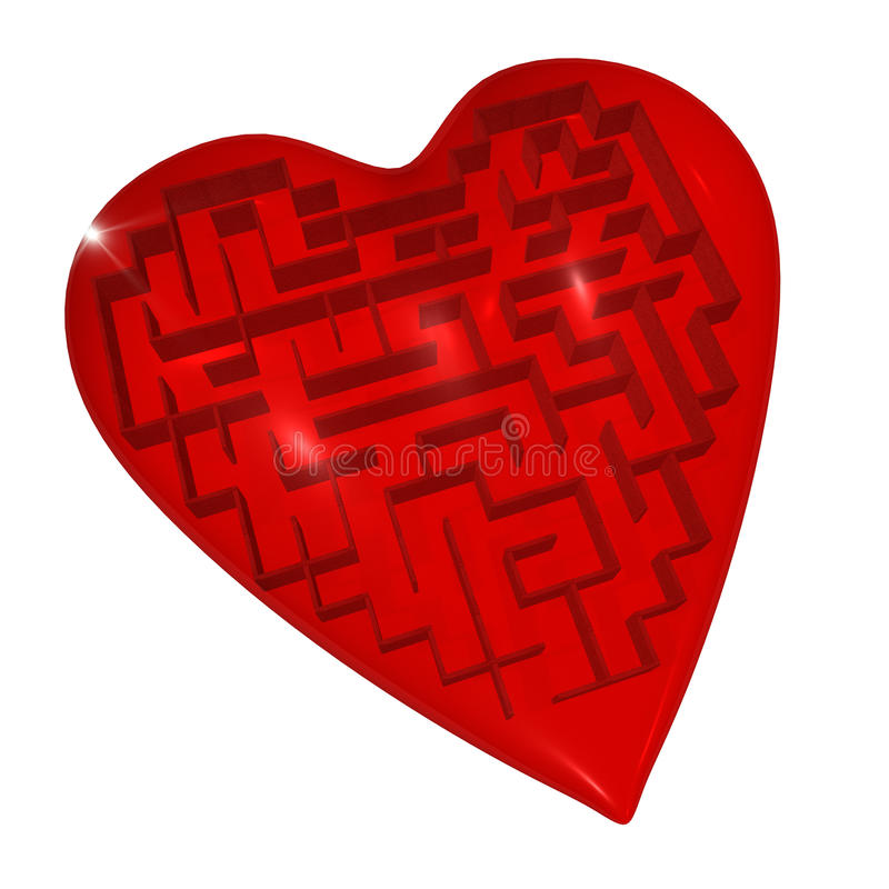 Download Heart Maze Royalty Free Stock Images - Image: 13769279