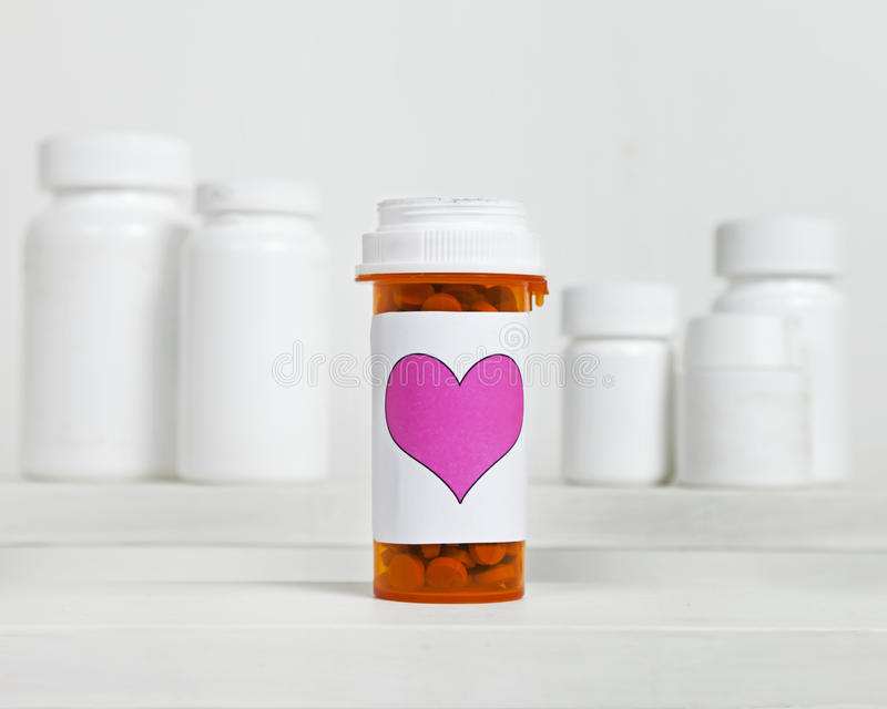 Heart Medication. Love Pills royalty free stock images