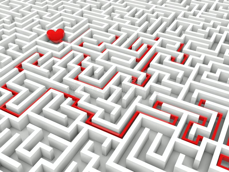 Download Heart In The Middle Of The Maze Stock Image - Image: 22809681