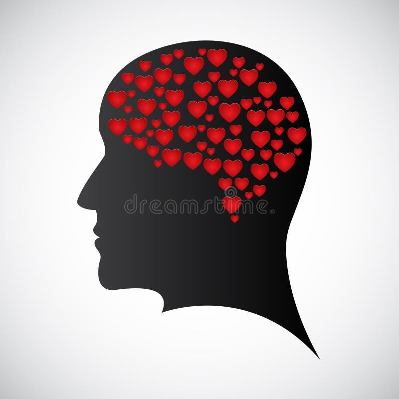 Heart mind vector illustration