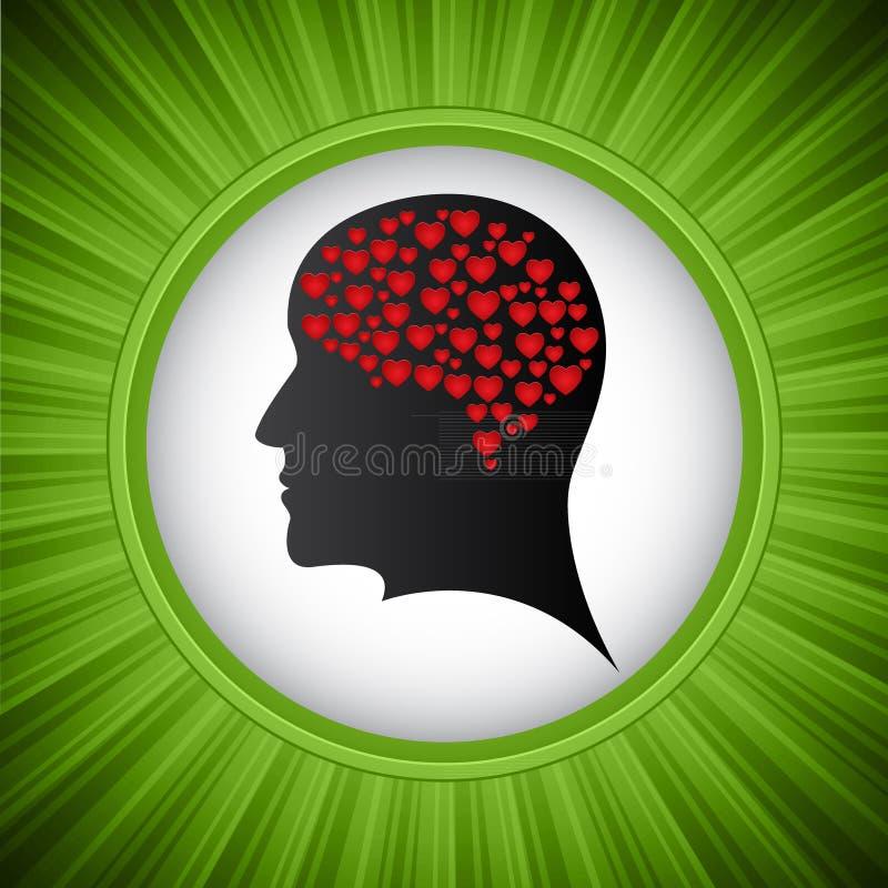Heart mind royalty free illustration