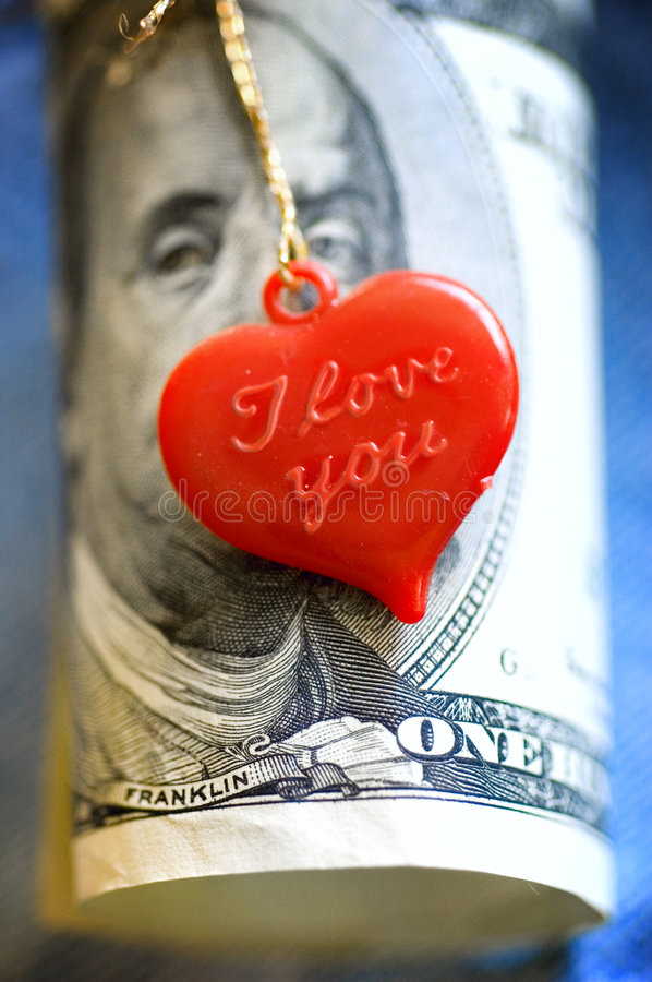 Download Heart and money stock image. Image of dollars, hundred - 3543043