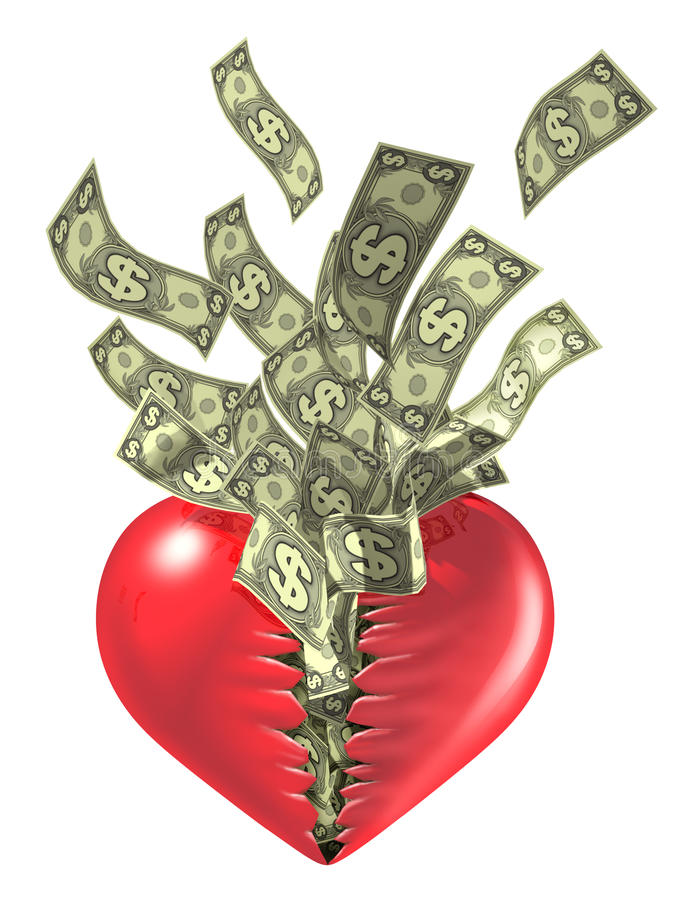 Download Heart  And Money Love Valentine Stock Illustration - Image: 12837081