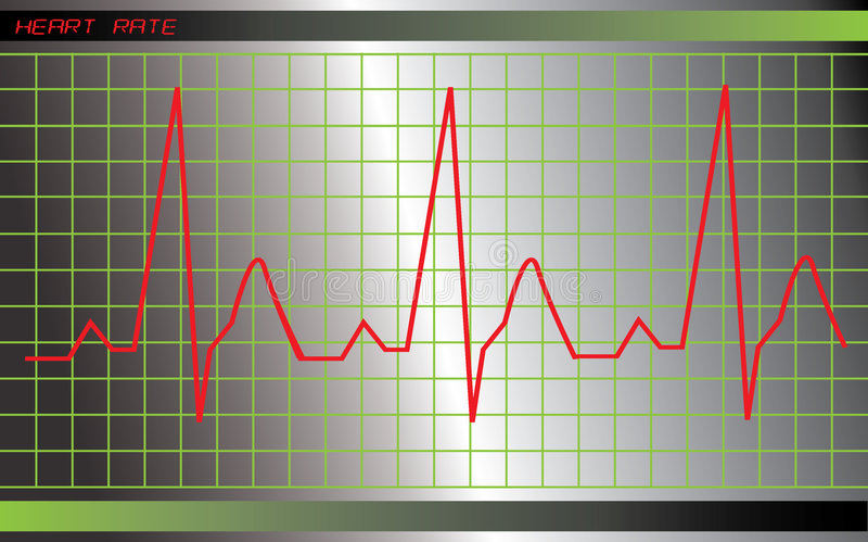 Heart Monitor. Screen of a heart monitor stock illustration
