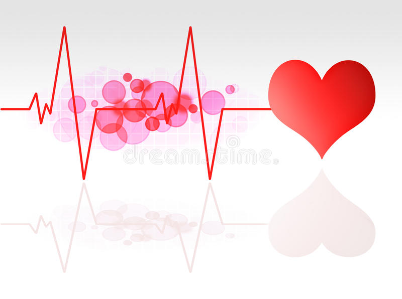 Heart monitor. Red heart monitor illustration background royalty free illustration