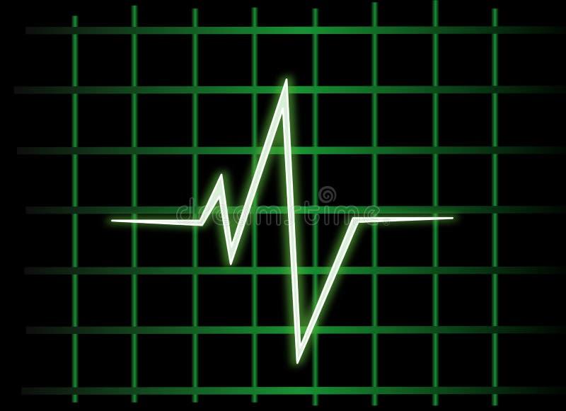 Heart monitor. Health diagnosis hospital royalty free illustration