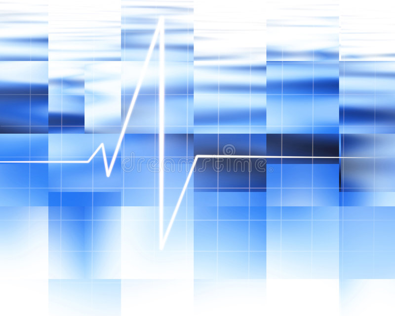 Heart monitor. On abstract blue background royalty free illustration