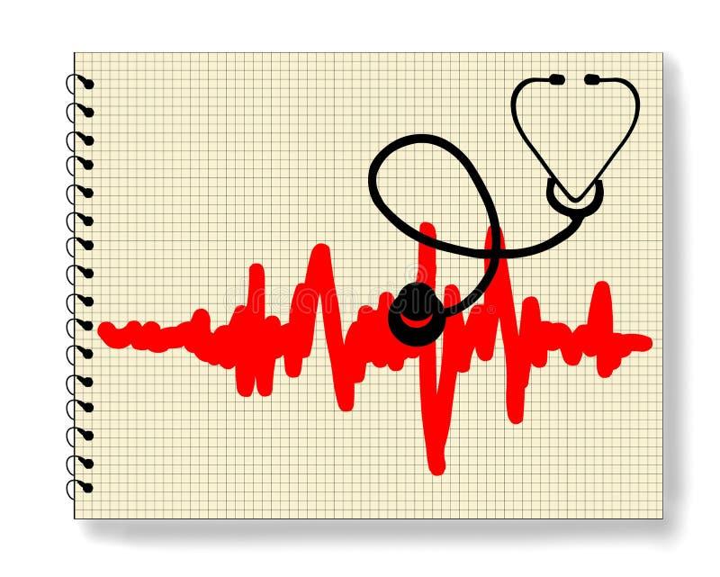 Heart monitor. On white background royalty free illustration