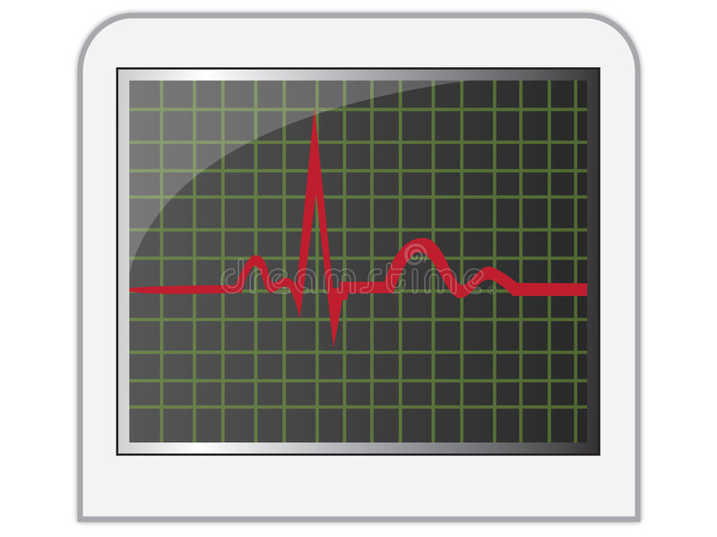Heart monitor. Sheet easy to resize or change color royalty free illustration