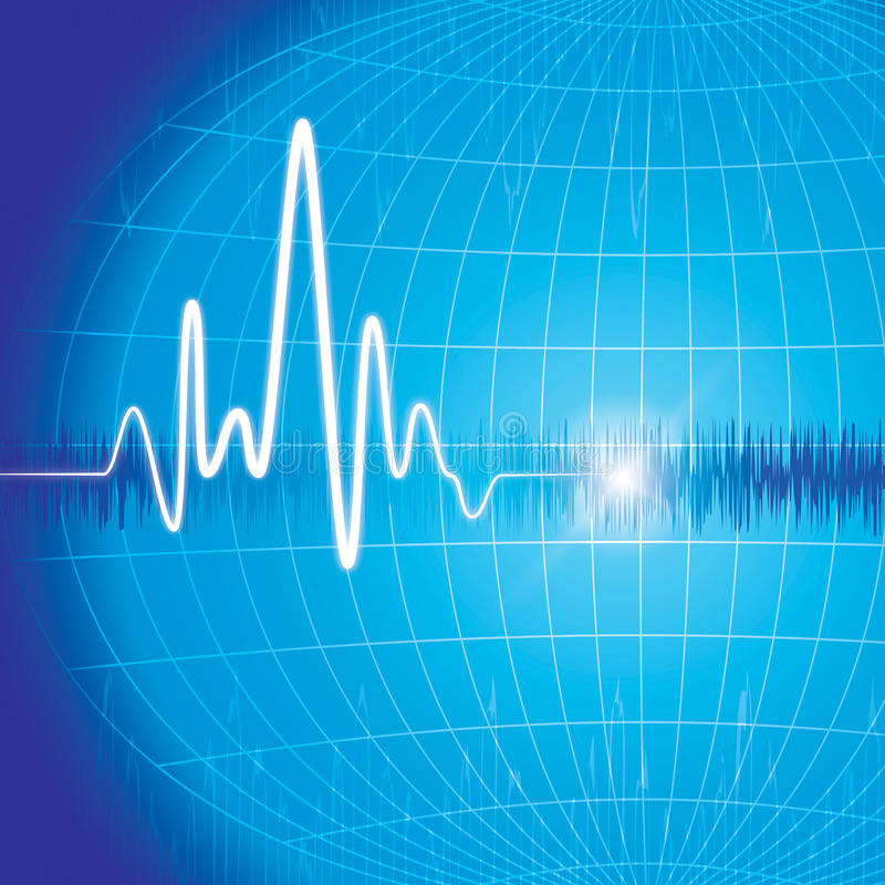 Heart monitor. Abstract background great for print and presentation royalty free illustration