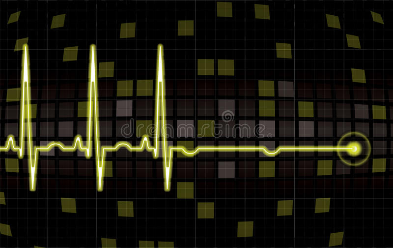 Heart monitor screen. In editable format stock illustration