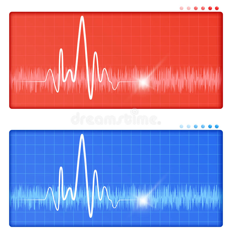 Heart monitor. Sheet easy to resize or change color vector illustration