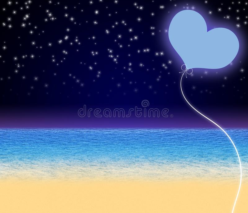 Beautiful fantasy Valentine`s day background. stock images