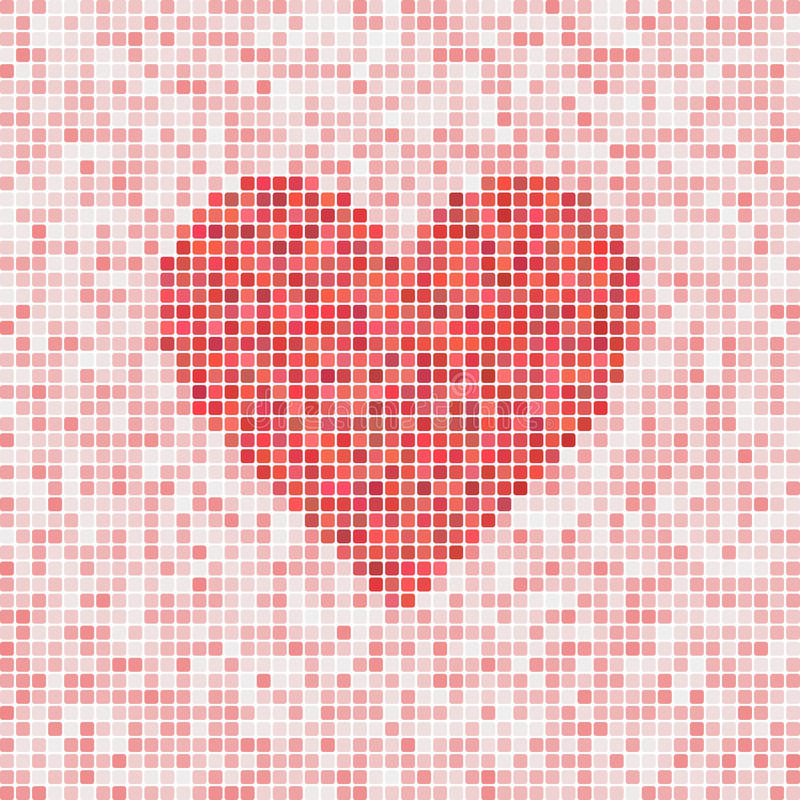 Heart mosaic. Beautiful heart mosaic for Valentine's Day royalty free illustration