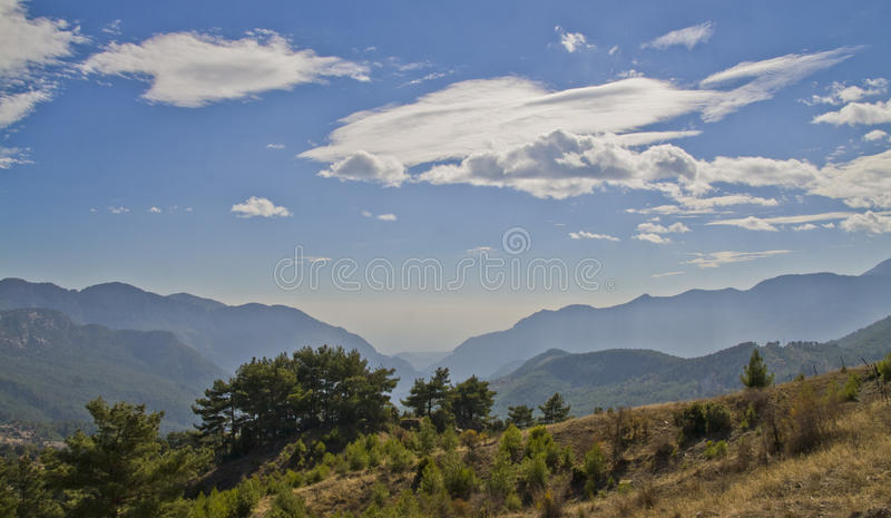 In the heart of the mountains royalty free stock photo