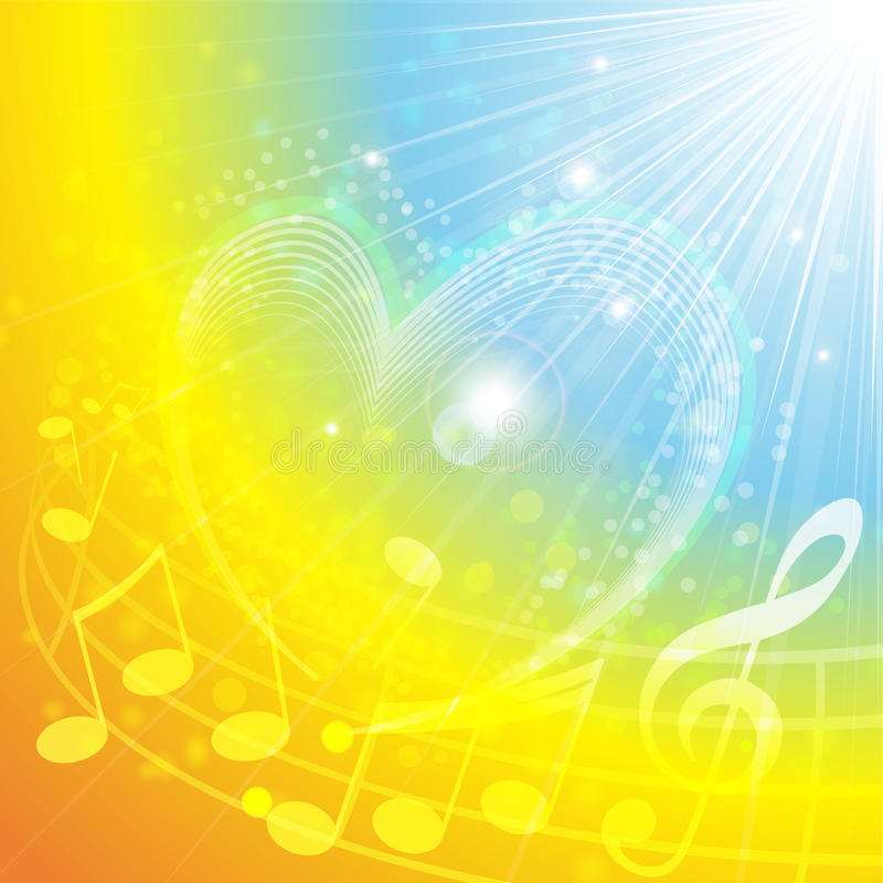 Download Heart Of Music stock vector. Image of summer, illustration - 23398237