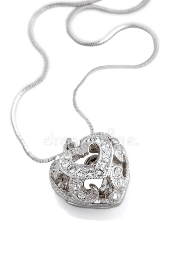 Download Heart necklace stock photo. Image of love, diamond, beautiful - 13332074