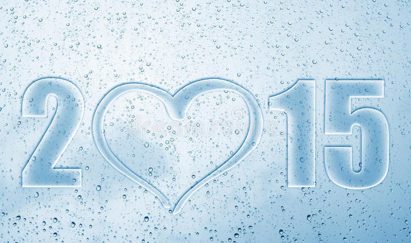 2015 heart new year royalty free stock images