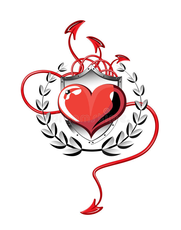Free Heart Of Devil Tails Royalty Free Stock Photo - 18222345