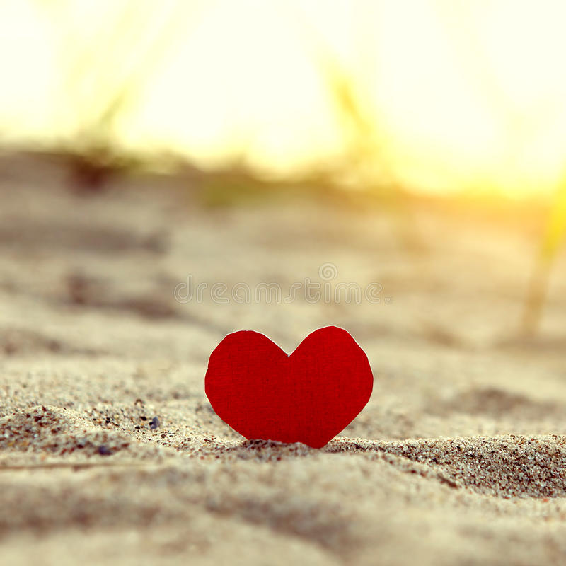 Free Heart On The Sand Royalty Free Stock Image - 85530026