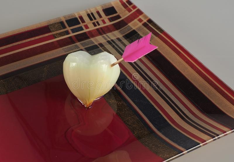 The heart of the onion royalty free stock photos